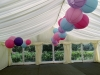 Clearspan marquee decorated with lanterns