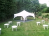 marquee and stools