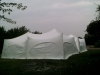 shelter from the rain with a marquee