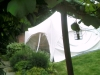 Sometimes it's a tight squeeze to fit a marquee in a garden