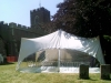 wedding marquee in church grounds