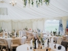 wedding marquee with linings
