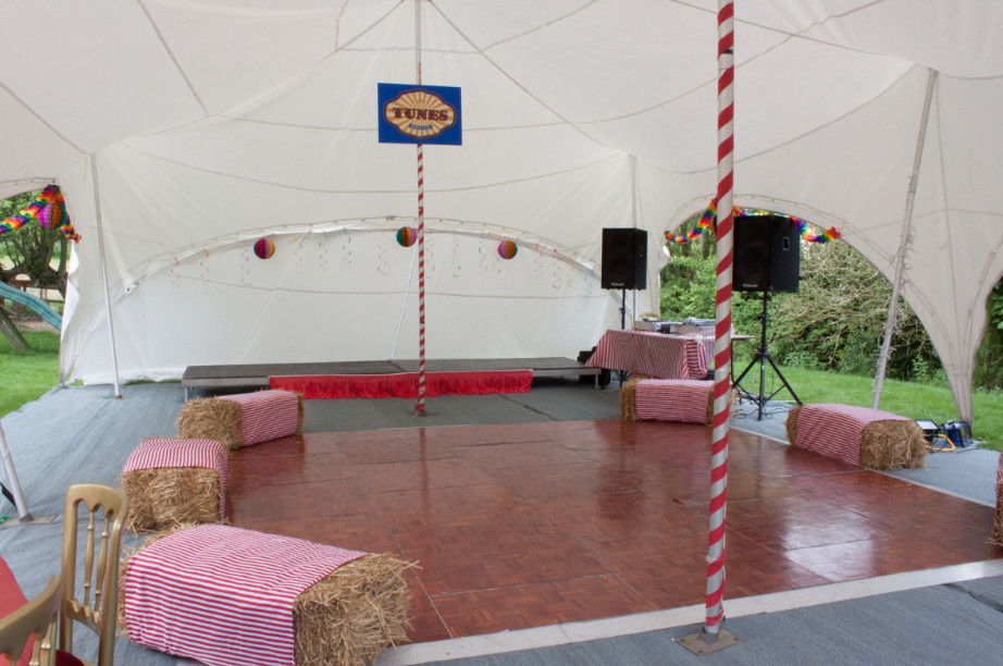 marquee for garden party