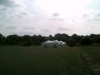 marquee in huge field